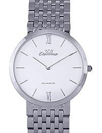 Valentine Gifts : Ciemme Valentine Sale Luxury Swiss Ronda Quartz Movement White Dial Mineral Crystal Glass Watch...
