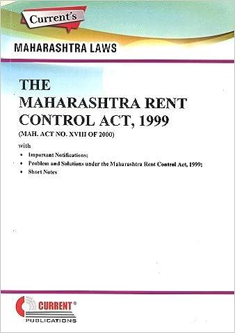 Maharashtra Rent Control Act 1999 -Book 2017