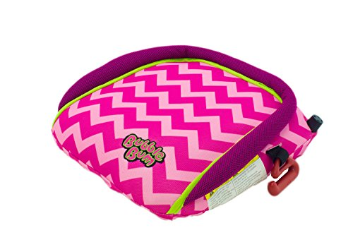 BubbleBum Siège d'Auto Gonflable/Portable Chevron Rose
