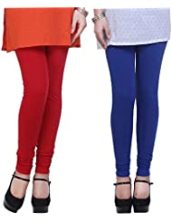 Shiva Collections Red And Blue Cotton Legging