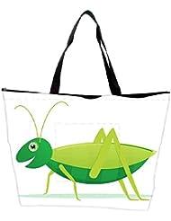 Snoogg Cute Cartoon Vector Grasshopper Waterproof Bag Made Of High Strength Nylon