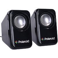 Polaroid U218 USB 2.0 3.5mm Mini Compact 2 Full Range Computer Speakers - Black Certified Refurbished