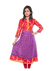 Bhujodi Cotton Red Anarkali Dress (D201180-Red)