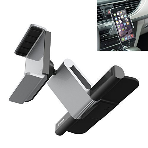 Car Mount, KimHee CD Slot Car Mount Holder Cradle for iPhone 7/7plus/6s/6/6s plus/6 plus, Samsung S7/S6/edge, Moto, HTC, Sony and all the phone 3.5-5.5 inch