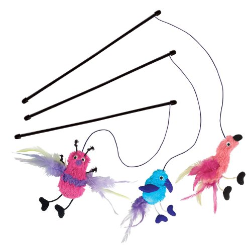 Active Feather Teaser Catnip Toy, Assorted