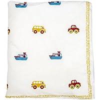 Cocobee Baby Quilt In Handblocked Prints - B01H3R4V3Y
