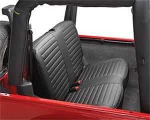 Bestop 29221-15 Black Denim Rear Bench Seat Cover for Wrangler 97-02
