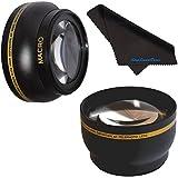 72mm HD 2.2x Telephoto & .43x Wide Angle Lens Bundle For Nikon AF Nikkor 180mm F/2.8D ED-IF 72mm Wide Angle Lens...