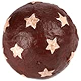 Craft Outlet Papier Mache Red Ball With White Stars, 3-Inch, Set Of 6