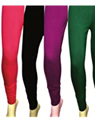 Style Acquainted People Women's Cotton Leggings (Pack Of 4)