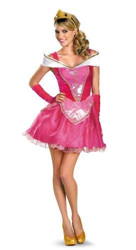 Halloween 2017 Disney Costumes Plus Size & Standard Women's Costume Characters - Women's Costume CharactersDisguise Disney Deluxe Sassy Aurora Costume, Pink/White Dress - Standard Sizes