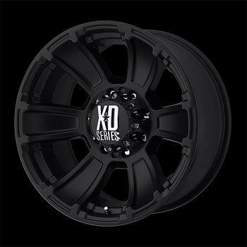 XD Series by KMC Wheels XD796 Revolver Matte Black Wheel (17×9″/8×165.1mm, -12mm offset)