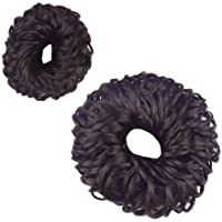 Hair Juda Band (Set Of 2 Pieces) Rubber Band Style, For Women And Girls Hair Accessories(Brown)