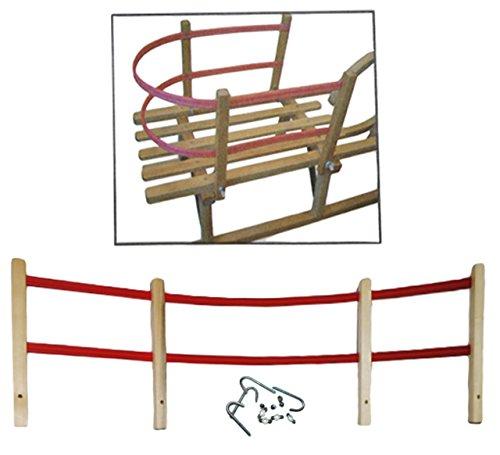 Schlittenlehne aus Holz - universal biegbar passend - für fast alle Schlitten - für Kinder und Baby / Lehne Kinderschlitten Babyschlitten Rückenlehne - auch für Hörnerrodel / Hörnerschlitten
