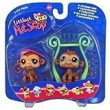 Littlest Pet Shop Pet Pairs - Fun Jungle Gym - 2 Monkeys Figure
