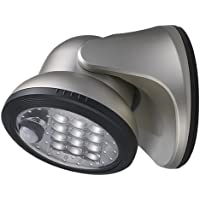 Fulcrum 20034-101 Wireless 12 LED Porch Light (Silver)