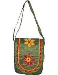 Empower Trust Women Casual Green Cotton Sling Bag