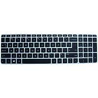 Saco Chiclet Keyboard Skin For HP 15-ac119TU 15.6-inch Laptop (Black/Clear)