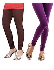 Style Acquainted People Women's Cotton Leggings (Pack Of 2) - B015J8A0LQ