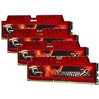 G.SKILL Ripjaws X Series 32GB 4 X 8GB 240-Pin SDRAM DDR3 1600 PC3 12800 Desktop Memory F3-12800CL10Q-32GBXL