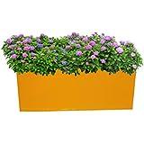 First Smart Deal Table Top Rectangular Box Planter Plain - Yellow