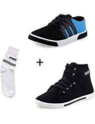 Maddy Perfect Combo Pack Of 3 Blue Shoes & Socks For Men In Various Sizes…