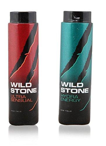 Wild Stone Ultra Sensual & Hydra Energy Deo Talc 100g - Pack Of 2