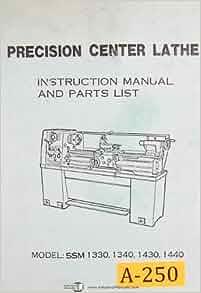 Acra turn lathe 1340 manual