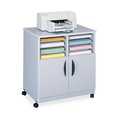 Safco Mobile Machine Stand with Sorter - Gray