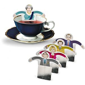 RoyalTea Royalty Tea Bags Gift Set with the Royal Family Figures, Prince William, Charles, Queen