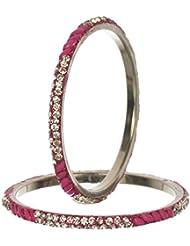 Nice Pink Bangle Set For Women (Pack Of 6) - Size 2.6 - B01ITI1T5O