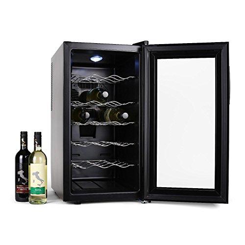 Klarstein Vivo Vino Cave à vins 18 bouteilles avec lumière LED (52L, 18 bouteilles, 11° à 18°C, classe énergétique B)