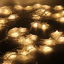 Christmas Star String Lights Led Light Sky Star Outdoor Waterproof Light Party Wedding Decoration-Warm White 5m