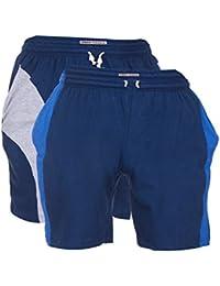 TeesTadka Men's Cotton Shorts For Men Value Pack Combo Offers For Men Pack Of 2 - B06XQMPTLQ