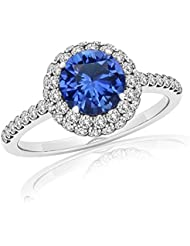 14K White Gold Plated .925 Sterling Silver Amthesty Holo Engagement Ring Free Sizing For Women's