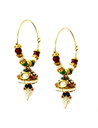 Daamak Gold Plated Jhumki With Kundan For Women