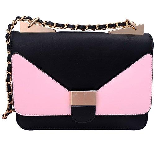 Super Drool Pink And Black Sling Bag