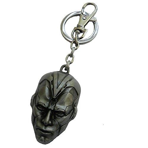 Techpro Premium Quality Metal Lock Keychain With Avengers Ultron Design