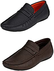 Fucasso Men's Combo Pack Of 2 Pair Of Loafers