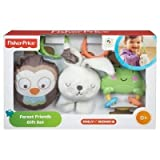 Fisher-Price Forest Friends - 3 Rattles- Owl, Bunny, And Frog