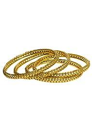 Joyas Golden Bangle Set For Women_12918_2.6