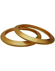 Decent Look Gold Plated Alloy Bangles By My Design(sizie-2.6)