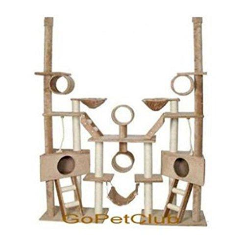 Go Pet Club Cat Tree Condo Furniture, 106-Inch, Beige