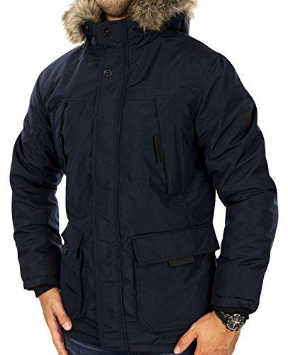 JACK & JONES Herren Parka jcoHOLLOW Winterjacke Mantel Jacket Regular Fit (M, Blau (Navy Blazer Fit:REG))
