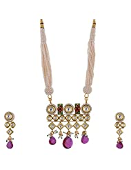 Ashapura Gold Plated Necklace With Studs For Women - P0122