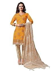 Mantra Fashion New Designer Havy Embroidery Beige And Peach Chanderi Salwar Suit