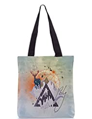 Snoogg Astro Cool Poly Canvas Tote Bag