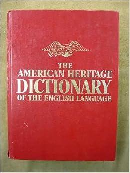 American Heritage Dictionary English Language