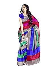 Vibes Women's Bhagalpuri Art Silk Saree,With Blouse (VS51-VBK114_Multi)