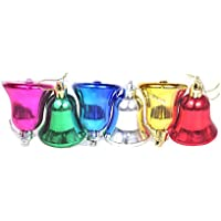 Pragati Pro Multi Colored Christmas Decoration Hanging Bells(Pack Of 6, 3in Bells)